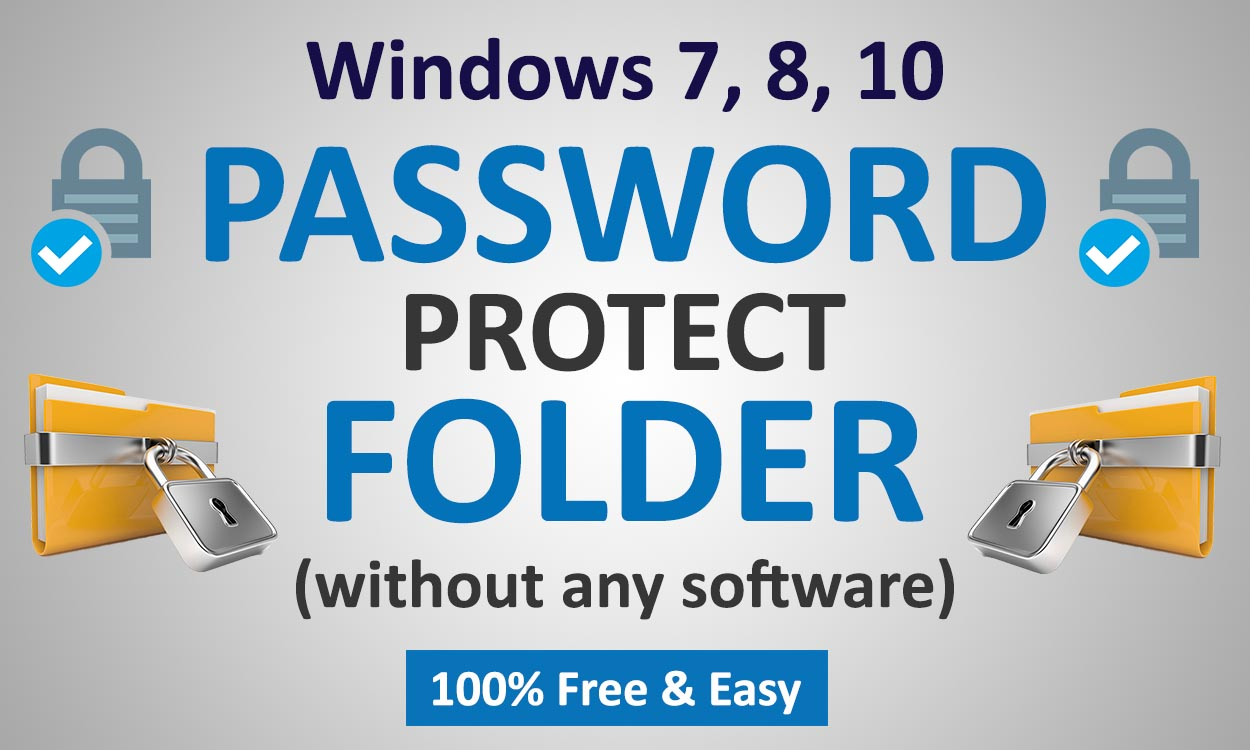 How to Lock Folder in Computer Without Using Any Software