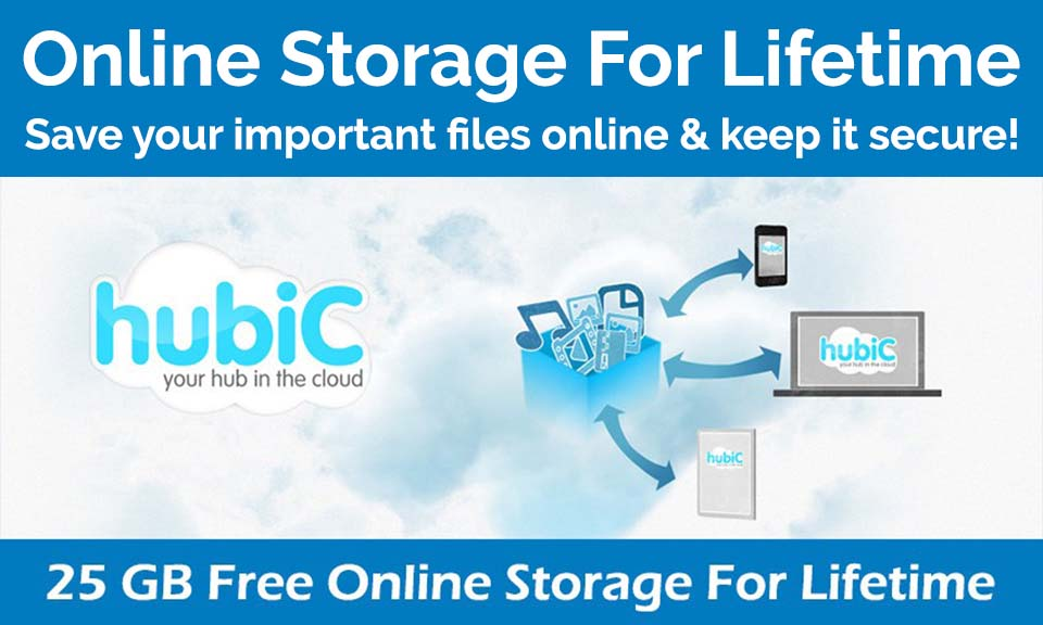 Get Free 25 GB Online Storage For Lifetime – No Limitations